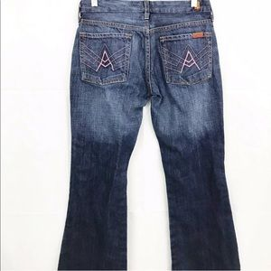 7 Seven For All Mankind Pink A Pocket Jeans Flare
